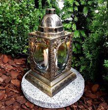 Grablaterne Grablampe Grableuchte Granit Grablicht Kerze Engel Grabstein Lampe