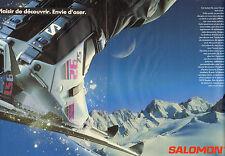 Publicité 1989  (Double page)  SALOMON matériel de ski chaussures sport d'hiver