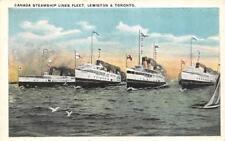 CANADA STEAMSHIP LINES FLEET Lewiston & Toronto   SHIPS~BOATS   c1920's Postcard