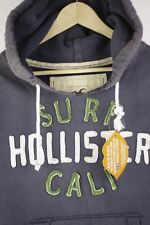 VINTAGE Mens HOLLISTER Hoodie URBAN SURFER FESTIVAL Sweater RUGGED Small P67