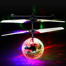 Flying RC Ball Aircraft Helicopter Led Flashing Light Up Toy Induction Toy TO