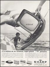 Publicité SHARP TV Portative Design  Vintage Ad Advertising 1963 - 4j
