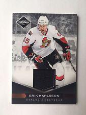2011-12 Limited Erik Karlsson Jersey Card(#60/99) #163