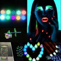 10 Farben Leucht Pulver Harz Pigment UV Epoxy DIY Making Schmuck Nagel Art Gift