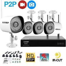 4CH HD 720P Wireless Wifi NVR WLAN IP Kamera Set Funk Video Überwachungssystem &