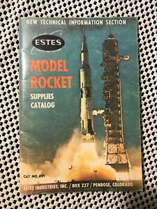 Vintage 1969 Estes Model Rockets Supply Catalog
