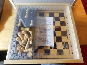 LRN~Game~The Woodfield Collection Chess Set w/Wood Case-2002
