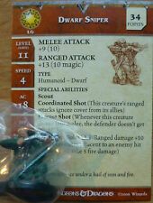 Dungeons & Dragons Miniatures DWARF SNIPER - Blood War (Cod. D&D 64) Dungeons &