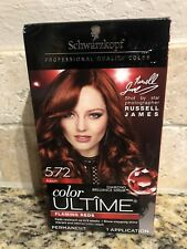 Schwarzkopf Color Ultime 5.72 Auburn Flaming Reds Red Permanent Hair Color New