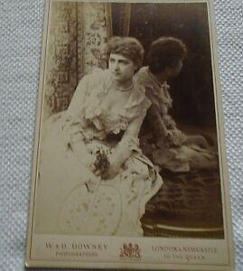 VICTORIAN CABINET CARD WOMAN IN WEDDING DRESS, LONDON STUDIO