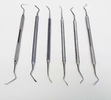Scalers Combination Set of 6pc Dental Surgical Instrument Tasrou Brand