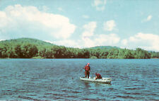 Vintage Postcard Fishing Greetings From Lincolnton, Georgia. Fishing Boat Action