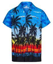 MENS HAWAIIAN SHIRT ALOHA HAWAII THEMED PARTY SHIRT HOLIDAY BEACH FANCY DRESS