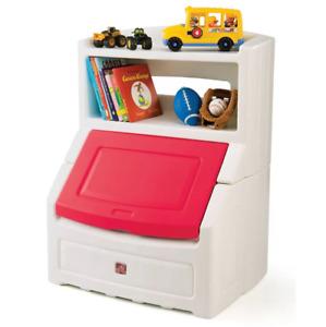 "Step2 Lift & Hide 38""H Kids Plastic Storage Bin and Toy Organizer, Red"