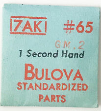 Bulova New 7AK GM.2 Vintage 1-Second Hand Only #65 NOS Sealed Original Package