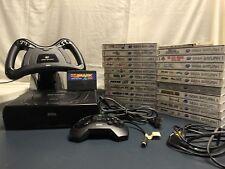 Sega Saturn - 22 Games - Game Shark - Controller - Steering Wheel