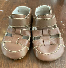 Livie And Luca Andy Brown Crib Shoe 6-12m