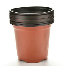 10 pcs Plastic Round Flower Pot Terracotta Nursery Planter Home Garden Decor FF