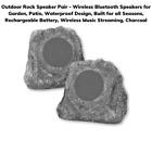 Outdoor Rock Speaker Pair - Wireless Bluetooth Speakers, Waterproof, Battery