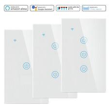 1/2/3 банда умного дома WiFi настенные сенсорный переключатель стеклянная панель Светодиодный индикатор переключатель Алекса