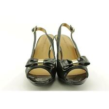Sandalias con tiras de mujer de color principal negro talla 37