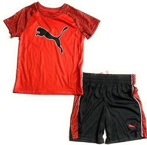 PUMA  Little Boys' T-Shirt & Short Set (Ages 4-7 Years)