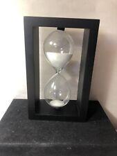 Wooden Sand Hourglass Timer Vintage Square Tabletop/Desk Decor Item Time(1 H)