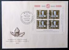 """Pro Patria-Block 1960, Bl. 17, auf FDC mit ESST """"BERN 1.VI.60"""" (P0843)"""