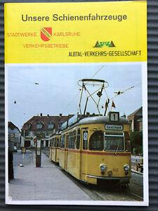 Unsere Schienenfahrzeuge Verkehrsbetriebe Karlsruhe Albtalbahn 1968