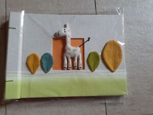 Fotoalbum Kinder Babyalbum Geschenk Giraffe Öko