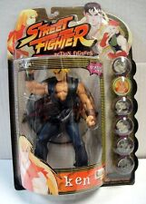RESAURUS STREET FIGHTER KEN ACTION FIGURE PLAYER 2 BLUE CAPCOM