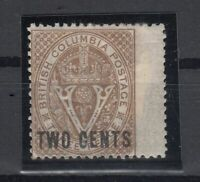 C2717/ CANADA - BRITISH COLUMBIA – SG # 28 MINT MH – CV 210 $