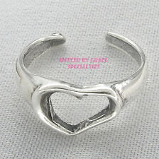 Sterling Silver 925 OPEN HEART Summertime Toe Ring