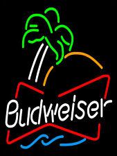 Budweiser NEON, rétro en métal aluminium SIGNE VINTAGE/MAN CAVE/Bar/Pub