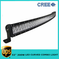 """53"""" 300W CURVED LED LIGHT BAR COMBO DRIVING OFF-ROAD LAMP SUV CREE JEEP CRV USA"""