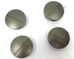 """OEM  4x 2.5"""" (63MM) OEM GREY Wheel Center Hub Caps For Dodge Dart Avenger Ram"""