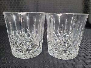 "2 GORHAM CRYSTAL King Edward Rocks Old Fashioned Glasses 3.5"""