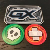 POKEMON TCG: GX COUNTER + BURN & POISON MARKERS - OFFICIAL ACRYLIC COUNTERS