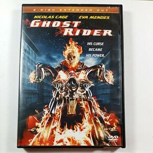 Ghost Rider (Two-Disc Extended Cut) Sony Pictures DVD Blockbuster Case