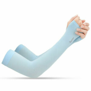 UV Protection Cooling Sleeves Arm Men Women Sports Sun Sleeves With Thumb Hole