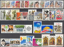 Greece 35 Greek Stamps MNH 9 Complete Sets Year 1986 Olympian Gods Year of Piece