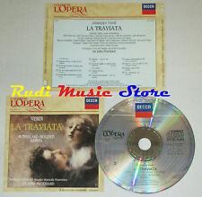 CD VERDI La traviata SUTHERLAND BERGONZI MERRILL grandi opera lp mc dvd
