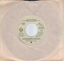 ALICE COOPER  How You Gonna See Me Now  rare promo 45 from 1978