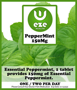 PEPPERMINT OIL CAPSULES. 150 MG INDEGESTION, WIND IBS, BUY 2 GET 1 FREE