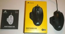 Corsair Nightsword RGB Performance tunable Gaming Mouse - Black CH-9306011-NA