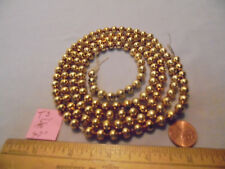 """Christmas Garland Mercury Glass Antique Gold 47"""" Long 5/16"""" Beads T3 Vintage"""