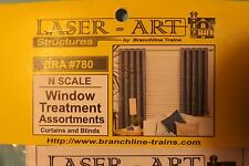 N SCALE WINDOW TREATMENTS BY branchline # 780