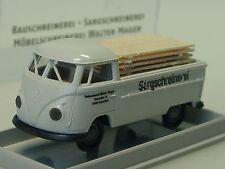 in scatola originale Top Brekina modello speciale VW t2 bus con tetto alto vigili del fuoco ad Amburgo