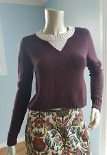 CUE wine colour crop knit jumper size S