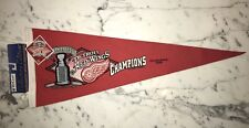 DETROIT REDWINGS 1997 LIMITED EDITION 1750 WOOL STANLEY CUP CHAMPS PENNANT
